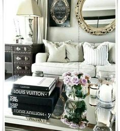 Living room grey glam