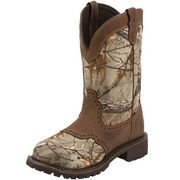 Women's Justin Camo Realtree Steel Toe Work Boots