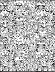Owls, owls, and more owls ~ Brynn Summers Doodle Coloring Book Volume 2