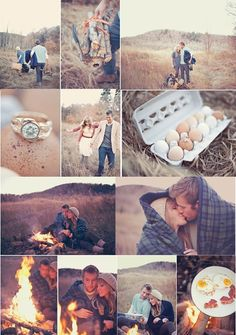 campfire engagement photos WHAT?!?!  Omg I love this!!! :) but I'd make smores instead