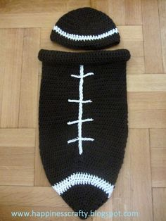Crochet Newborn Football Cocoon ~ Free Pattern