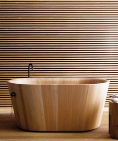 Japanese bathroom culture. The traditional Japanese 'Ofurò' woodenbathtubs are places for quiet contemplation and wellness rather than vessels to get clean...