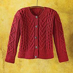 Merino Wool Irish Cardigan... I love this sweater  Ms. Kathleen @ The Joyful Servant onto Irish American -- St. Patrick's Day