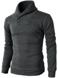 H2H Men's One Button Point Shawl Collar Knited Slim Fit Pullover Sweater #H2H #HAVE2HAVE