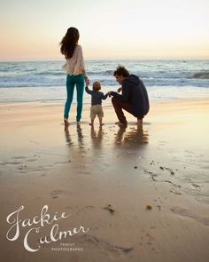 Family photo session at the beach. © Jackie Culmer Photography