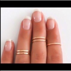 14k gold plated  midi rings  Brand new  14k gold plated  comes with 4 rings in the set not FP Free People Jewelry Rings