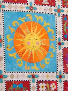 """closeup, """"Ewe Are My Sunshine"""" by Janet Stone. Best of Show, 2015 Houston International Quilt Festival. Photo by L'Atelier d Emma."""