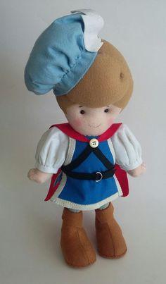 Feltro: Príncipe Smurfs, Teddy Bear, Toys, Animals, Fictional Characters, Art, Fabric Dolls, Feltro, Activity Toys