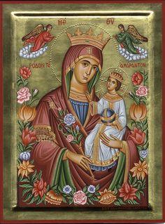 Adamantia Karatza iconographer . Virgin with child