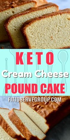 Keto Cream Cheese Pound Cake-If you've been missing pound cake while doing keto, you've come to the right place. This recipe for pound cake is a f. Low Carb Desserts, Low Carb Recipes, Dessert Recipes, Dessert Ideas, Healthy Recipes, Pain Keto, Chocolate Pound Cake, Cream Cheese Pound Cake, Keto Cream