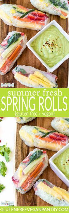 Summer Fresh Spring Rolls – Vegan + Gluten-free | glutenfreeveganpantry.com