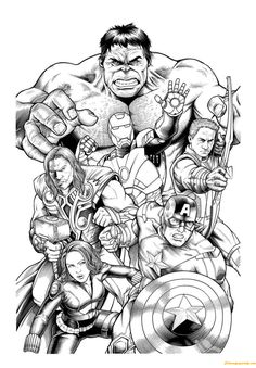 Marvel Super Hero Coloring Pages Henry And Bennett Pinterest