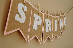 Spring Burlap Bunting 10