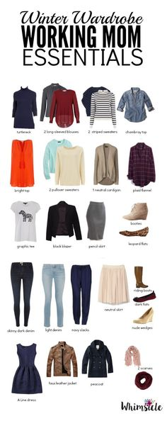 Want a small wardrobe but don't know how to balance your work clothes with weekend wear?  Here is what you need in your closet as a working mom.
