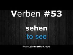 Deutsch Lernen   Verben 53   sehen ⇔ to see   Verben im Präsens   #Verben   Learn German HD♫ - YouTube