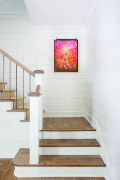 Are you looking for ideas for modern farmhouse? Check this out for cool modern farmhouse inspiration. This amazing modern farmhouse ideas seems completely wonderful. Farmhouse Stairs, Farmhouse Remodel, Farmhouse Style Kitchen, Farmhouse Decor, Modern Farmhouse Style, Modern Farmhouse Interiors, Modern Farmhouse Kitchens, Country Kitchens, Old Farm Houses
