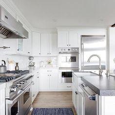 White Kitchen with Viking Appliances