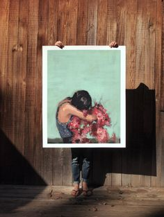 In Between . extra large artwork giclee print by ClareElsaesser