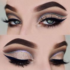 """My look for today! I used @make_up_factory 'a dark swan collection for this look! Which is available in stores (in Germany: @mueller_drogeriemarkt) very soon!  Brows: @anastasiabeverlyhills dipbrow Pomade """"chocolate""""  Eyes: @anastasiabeverlyhills x @makeupbymario #masterpalettebymario , @make_up_factory luxury glitter cream  Crease: @make_up_factory metallic eye colour fluid """"020""""  Liner: @make_up_factory liquid eyeliner """"05""""  Lashes: @hellagoodlashes """"NATURALART""""  #anastasiabev..."""