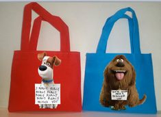 """12 The Secret Life of Pets, Favors Bags, Pets Party Favors, Pets bags, Party Supplies ,Small 7""""X6"""" and Medium 8'X8"""" by picturesweet on Etsy"""