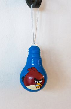 Angry Birds Bulb Ornament by SewCharmingCrafts on Etsy, $7.00