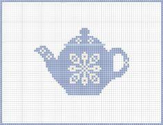 Simple Cross Stitch Teapot Pattern by Craft Novice Free Cross Stitch Charts, Cross Stitch Freebies, Simple Cross Stitch, Cross Stitch Patterns, Cross Stitching, Cross Stitch Embroidery, Embroidery Patterns, Cross Stitch Kitchen, Maneki Neko