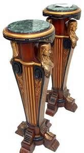 5430 Antique19th C. Egyptian Revival Pedestals by Pottier & Stymus
