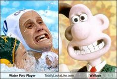 Water Polo Player Totally Looks Like Wallace - from Omar G. lol