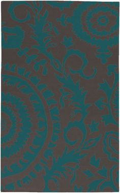 Surya Frontier Ft-473 Turquoise / Mulled Wine Area Rug