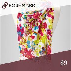 """Women Multi Color Floral Soft Casual Cotton Scarf Women Multi Color Floral Soft Casual Cotton Scarf        100% Viscose    76"""" x 28"""" Accessories Scarves & Wraps"""