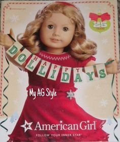 """2011 American Girl """"Dollidays"""" Catalog Cover. I thought that was so clever of them."""