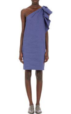 Lanvin Ruched One-Shoulder Dress