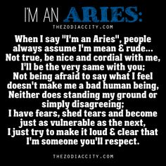 """About Aries: """"I'm An Aries"""" 