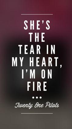Twenty One Pilots. Tear In My Heart. #lyrics