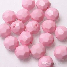 Lovely Light Pink Acrylic Faceted Beads.Jewelry Hexagon Shaped Round Chunky Necklace Gumball Beads.22mm.A . From Yyfirm, $14.49 | Dhgate.Com