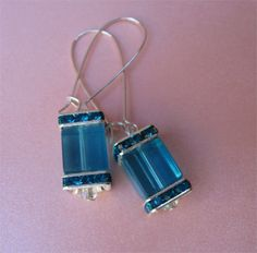 TEAL ZEAL earrings on French wires.  Oh, oh they're back, but there's only a few! $12.00.  http://www.etsy.com/listing/123721466/teal-zeal?#