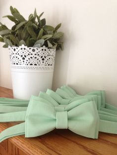 Mint Bow Tie for Men or Boys / Or CHOOSE your by MiaLorenBoutique, $22.50