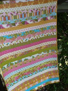 Patchy Work of Mini Grey: Jelly Roll Quilt Finished.