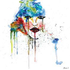 #sharonsketchbook #illustration #portraitillustration #watercolor #art