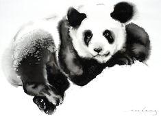 Original Animal Drawing by Soo Beng Lim Animal Drawings, Art Drawings, Panda Drawing, Panda Art, Tiger Art, Animal Fashion, Cosy, Buy Art, Watercolour