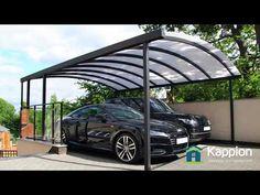 Carport Canopy - 2 Car Bespoke u0026 Freestanding - YouTube & The Ultimate 2 Car Carport Canopy - YouTube | Contemporary ...