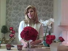 Create your own Red Rose centerpiece at home. Easy directions by lifestyle expert Colleen Mullaney