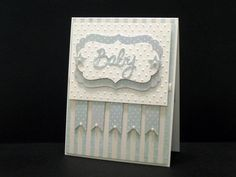 Cuttlebug Polka Dots and layering by abbyy Baby Boy Cards, New Baby Cards, Baby Shower Cards, Cute Birthday Cards, Birthday Ideas, Embossed Cards, Baby Kind, Pretty Baby, Card Tags