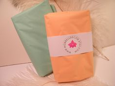 """Tissue Paper - Peach and Cool Mint Combo Pack 48 Sheets of 20"""" X 30"""" DIY Wedding Decor- Gift Wrap Idea- Packaging- DIY Pom Pom Supplies. $7.98, via Etsy."""