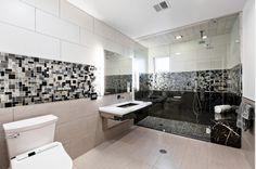 Interior Design. 12 Top Ranked Interior Design Programs To Inspiring Make Your Home Beautiful. Stunning Modern Bathroom Decoration Showcasing Large Transparent Enclosure Shower With Black Tile Accent And Rectangular Floating Washbasin Plus Rectangular Bathroom Mirror In Top Ranked Interior Design Program. If we learn and we think everything. our house would probably look a lot more comfortable now. The use of accent tiles on the wall is expected to provide an atmosphere that is more calm and…