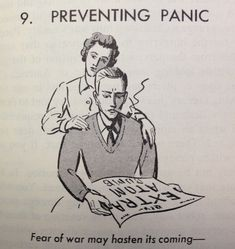 Don't panic. From: You Can Survive the Atomic Bomb, 1961