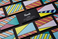 Fonda visual identity and business cards designed by Wildhen Design.