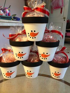 Peppermint Snowman Pots Great Teachers Gifts