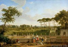 Johann Christian Reinhart - Park der Villa Pamphili