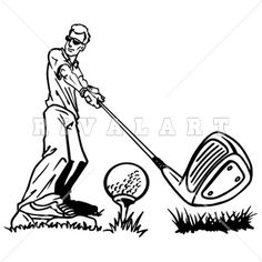Golf Tips That Anyone Can Start Practicing Today Golf Clip Art, Golf Art, Clipart Black And White, Black White, Single Club, Golf Stance, Used Golf Clubs, Custom Flags, Man Images